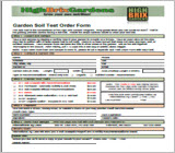 Garden Soil Test Order Form